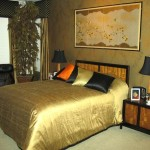 dormitor in culori metalice